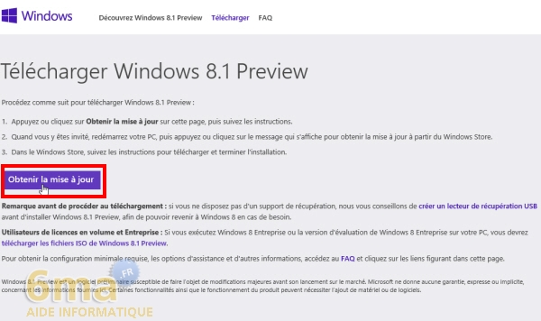 Comment installer Windows 8.1 Preview ? image 0