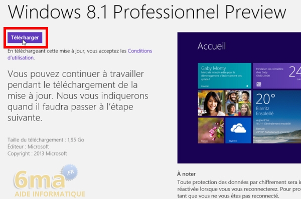Comment installer Windows 8.1 Preview ? image 6
